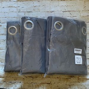 Nicetown thermal curtains in gray 3 panels
